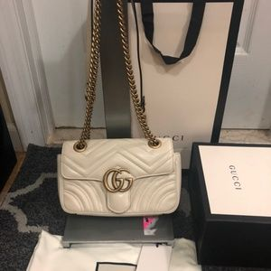 Gucci marmont white bag